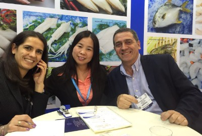 Meeting during seafood show in brussel 2019
